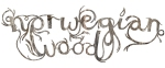 Norwegian Wood hand drawn typography by Heidi Burton