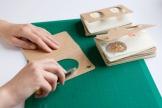 Moleskine journal hacks - cutting journals with knife