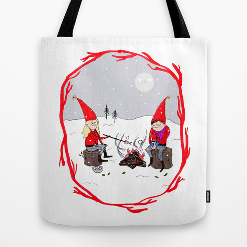 snow & stories tote
