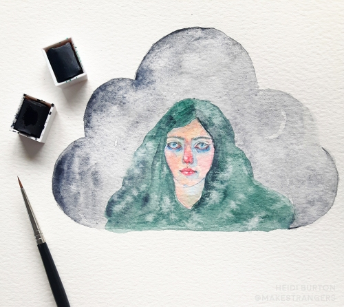viridian cloud small by heidi burton