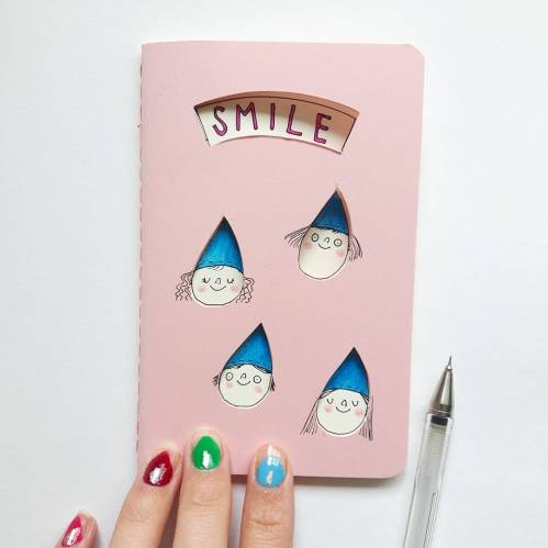 smiling pink journal