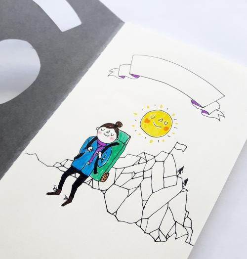 travel journal mountain girl inside closeup small