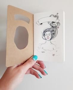 Water Nymph Altered Moleskine Journal illustrated by Heidi Burton