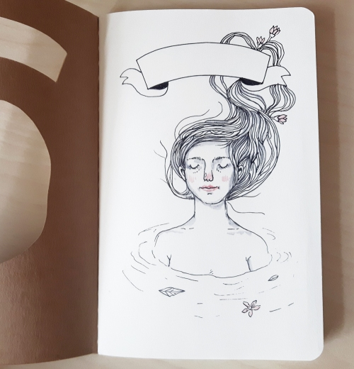 water nymph notebook by heidi burton