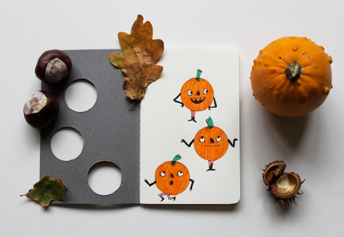 halloween-pumpkin-notebook-heidi-burton-moleskine-journal-inside