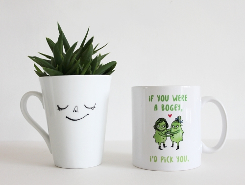 If you were a bogey I'd pick you - funny anniversary mug gift